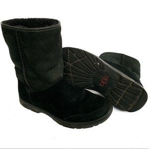 Ugg Michaela black suede waterproof boot